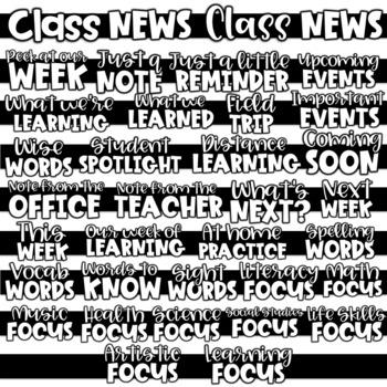 Digital Classroom Newsletters (40+ Editable Class Newsletters)