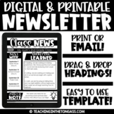 Digital Newsletter Template Editable | Weekly Newsletter Templates Editable