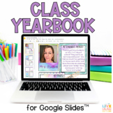 Digital Class Yearbook Project in Google Slides - Distance