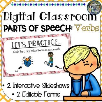 Digital Classroom: Action Verbs and Linking Verbs