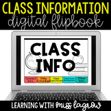 Digital Classroom Class Information Flipbook Slideshow