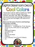 Digital Classroom Decor - Cool Colors