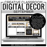Digital Classroom Decor September | Distance Learning | Go