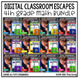 Digital Escape Math Digital Escape Room 4th Grade BUNDLE Google Classroom