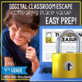 Google Classroom Math Digital Escape Room 4.NBT.1 Place Value 4th Grade