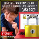 Google Classroom Math Digital Escape Room Place Value 4th Grade