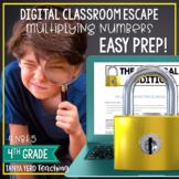 Google Classroom Math Digital Escape Room 4.NBT.5 4th Grade