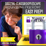 Google Classroom Math Digital Escape Room 4.NF.1 Fractions 4th Grade