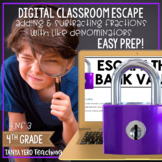 Google Classroom Math Digital Escape Room 4.NF.3 Fractions 4th Grade