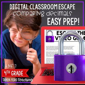 Google Classroom Math Digital Escape Room 4.NF.7 Fractions 4th Grade