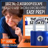 Google Classroom Math Digital Escape Room 4.OA.3 4th Grade