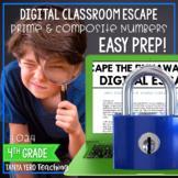 Google Classroom Math Digital Escape Room 4.OA.4 4th Grade