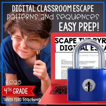 Google Classroom Math Digital Escape Room 4.OA.5 Patterns 4th Grade
