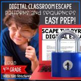 Google Classroom Math Digital Escape Room 4.OA.5 Patterns