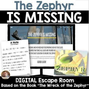 Digital Classroom Escape Room: Wreck of the Zephyr bu Chris Van Allsburg