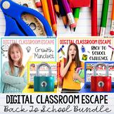 Digital Classroom Escapes: Back to School Activities Bundle Teambuilding