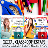 Activities for Back To School Escape Rooms Growth Mindset Bundle