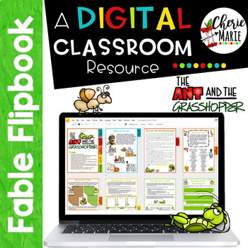Distance Learning Digital Fable Reading Passage Ant & Grasshopper NTI
