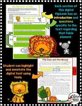 Digital Classroom Fables The Lion and the Mouse RL3.2 RL3.3 RL3.6 RL4.2 RL4.3