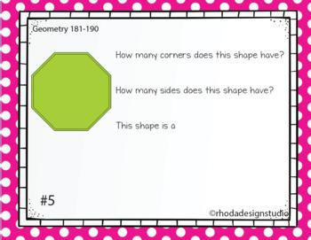 Digital Classroom Geometry Interventions or Math Test Prep RIT Band 181-190