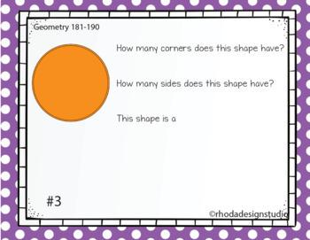 Standardized Test Prep Math Geometry RIT Band 181-190 Google Slides Paperless