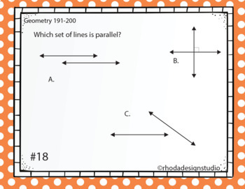 Standardized Test Prep Math Geometry RIT Band 191-200 Google Slides Paperless