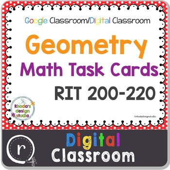 Standardized Test Prep Math Geometry RIT Band 201-220 Google Slides Paperless