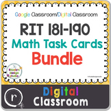 NWEA MAP Test Prep Math Bundle NWEA RIT Band 181-190 Google Slides Paperless
