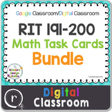 NWEA MAP Test Prep Math Bundle NWEA RIT Band 191-200 Google Slides Paperless