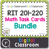 NWEA MAP Test Prep Math Bundle NWEA RIT Band 201-220 Google Slides Paperless