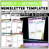 Digital Classroom Newsletters | Template | Editable