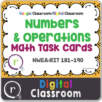 Numbers & Operations Math Interventions RIT Band 180-191 Digital Classroom
