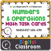 NWEA MAP Test Prep Math Operations RIT Band 180-191 Google Slides Paperless