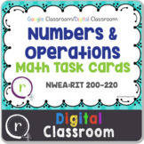 NWEA MAP Test Prep Math Operations RIT Band 200-220 Google Slides Paperless