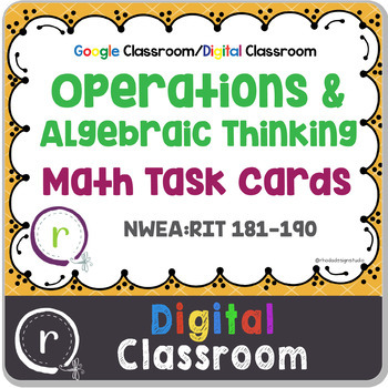 Digital Classroom Operations & Algebra Math Test Prep RIT
