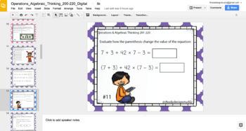 Operations & Algebra Math Test Prep RIT Band 200-220 Digital Classroom