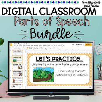 Digital Classroom: Parts of Speech Bundle