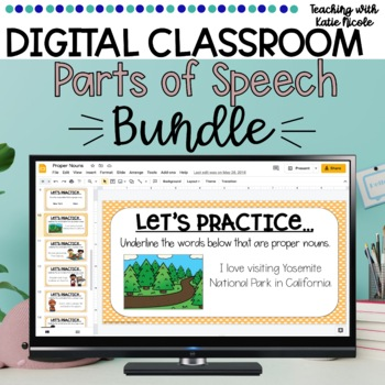 Distance Learning Digital Classroom: Parts of Speech Bundle