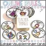 Virtual Classroom Management Signs - Editable