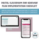 Digital Classroom Set-up Checklist and Behavior Plan Imple