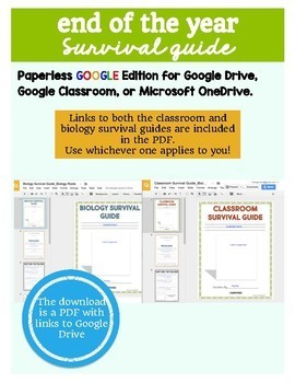 Digital Classroom Survival Guide- End of the Year Activity on Google Drive