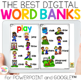 Digital Classroom Word Banks for PowerPoint and Google (TM