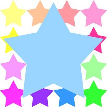 Digital Clip Art: Big Value Bundle of Super Stars - 144 pc Set