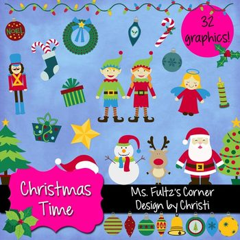 Digital Clip Art: Christmas Time