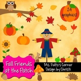 Digital Clip Art: Fall Friends at the Pumpkin Patch