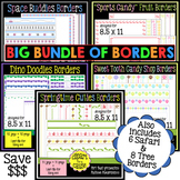 Digital Clip Art Frames: 171 Borders-Save 75% when you BUNDLE!-Color & Grayscale