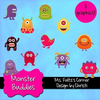 Digital Clip Art: Monster Buddies