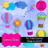 Digital Clip Art: Sunny Skies