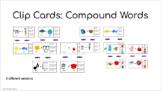Digital Clip Cards: Compound Words