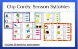 Digital Clip Cards: Season Syllables